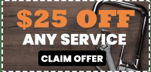 Plumbing service coupon